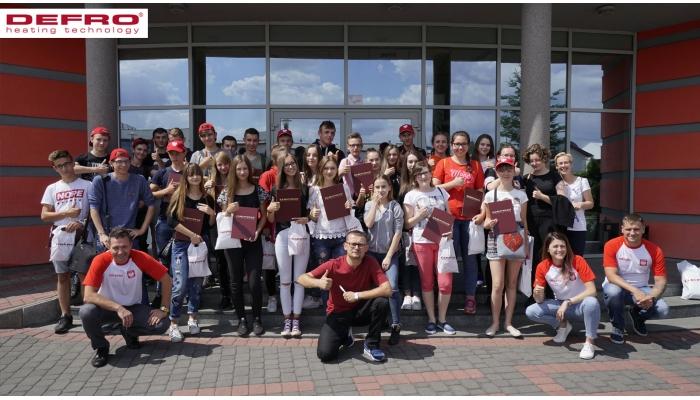 Wizyta uczniów ze szkoły w Strawczynie