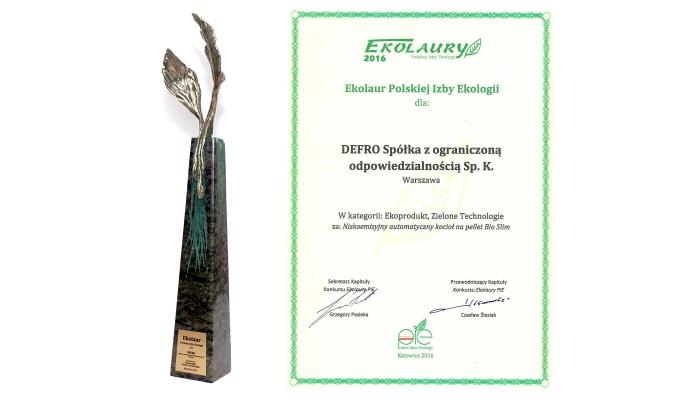 Ekolaur Polskiej Izby Ekologii 2016
