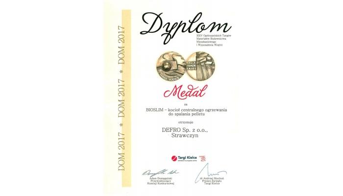 Medal Targów Kielce za kocioł pelletowy BIO SLIM