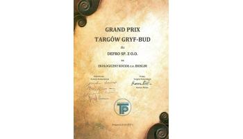 Grand Prix Targów Gryf Bud dla kotła Bio Slim
