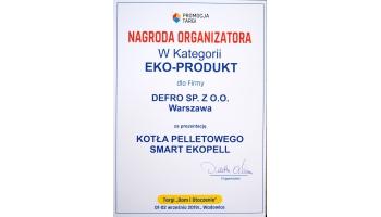 Nagroda w kategorii Eko Produkt za kocioł pelletowy Smart EkoPell