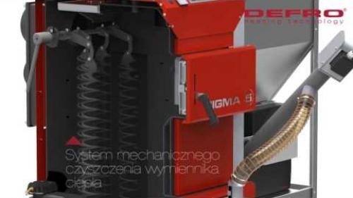 Sigma EkoPell F - zobacz jak działa system mechanicznego czyszczenia wymiennika