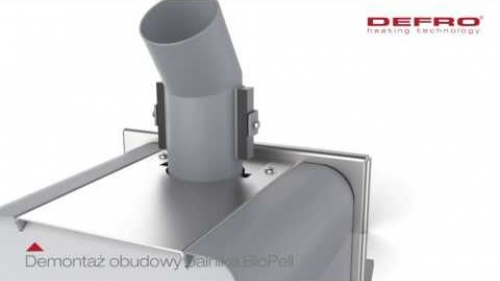 Zobacz jak zdjąć obudowę z palnika pelletowego BioPell