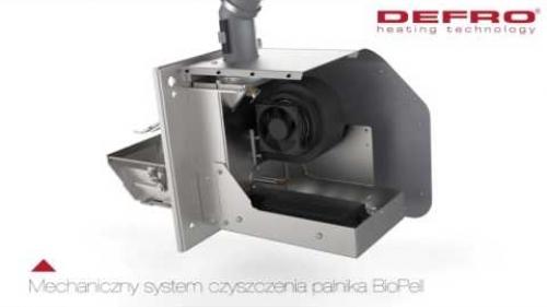 Zobacz jak działa mechaniczny system czyszczenia palnika pelletowego