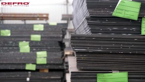 Magazyn stali do produkcji kotłów