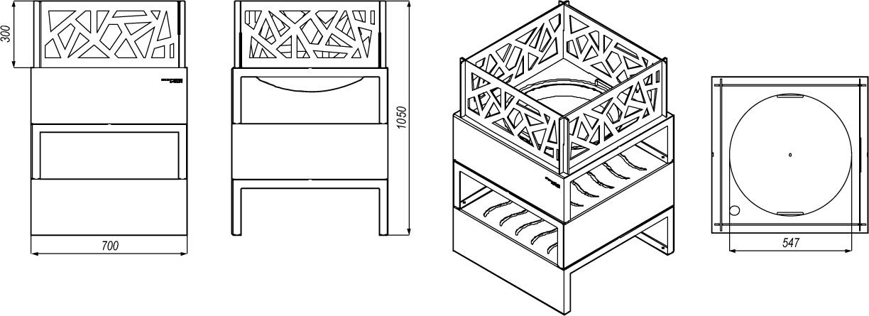 omega-53 rysunek techniczny