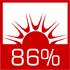 wysoka sprawność cieplna sięgająca 86% dzięki zwiększonemu odzyskowi ciepła ze spalin