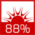 wysoka sprawność cieplna powyżej 88%
