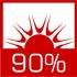 wysoka sprawność cieplna sięgająca 90% dzięki zwiększonemu odzyskowi ciepła ze spalin