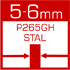 wymiennik ciepła wykonany z atestowanej stali kotłowej /gat. P265GH/ o grubości 6-10mm z hut Arcelor Mittal Poland S.A.