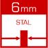 wymiennik ciepła wykonany z atestowanej stali kotłowej /gat. P265GH/ o grubości 6mm z hut Arcelor Mittal Poland S.A.